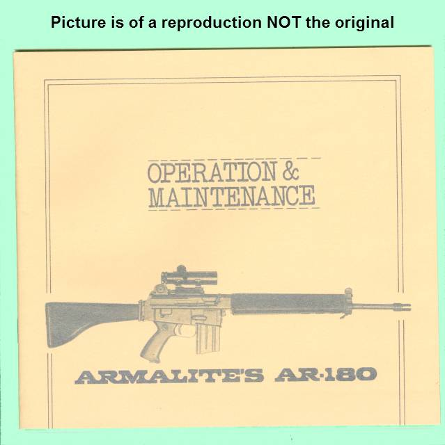 Armalite AR-180 Factory Instruction Manual R - Picture 1